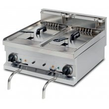 Freidora eléctrica sobremesa 8+8 litros 7,5+7,5kw de 600x600x265h mm EF606 ARISCO