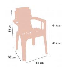 Sillón con asiento acanalado MAMBO
