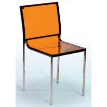 Silla con asiento y respaldo acrílico Naranja DENVER