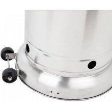 Estufa acero inox para exterior con ruedas y cubre bombonas ESTUFA EXTERIOR
