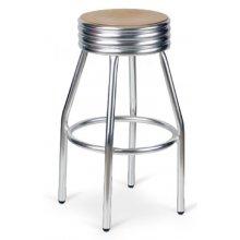 Taburete aluminio con asiento personalizable ATLÁNTICO