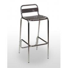 Taburete aluminio asiento y respaldo lamas de aluminio ADRIÁTICO ALUMINIO RESPALDO
