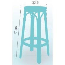 Taburete armazón aluminio 28x2 color dark bambú, tejido rattan crema-moka TABURETE NIZA SIN RESPALDO