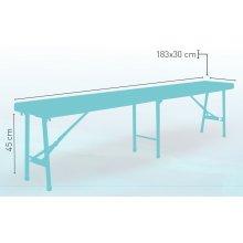 Banco estructura plegable tubo acero epoxi BANCO PLEGABLE
