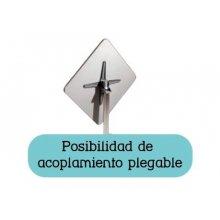 Mesa pie fundición aluminio brillo opción plegable ATLANTA-3