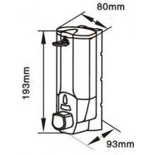 Dosificador de Jabón de 0,4 litros en ABS Gris DJ135ABG0 (1 ud)