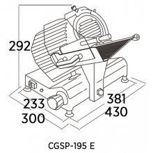 Cortadoras de fiambre CGSP EDENOX