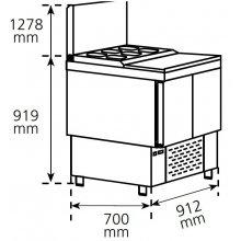 Mesa Refrigerada para preparación de ensaladas y pizzas Compacta MPGE-100 HC EDENOX
