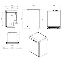 Armarios Mantenimiento de Congelados 1 Puerta ANS-I EDENOX