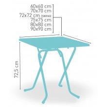 Mesa plegable armazón metálico acabado epoxi carta colores VARIATION-C