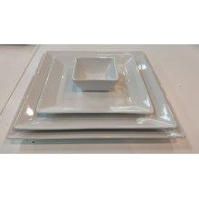 Bowl de 8x8x4cm Ming Blanco Cuadrado B1255R VIEJO VALLE (caja 12 uds)