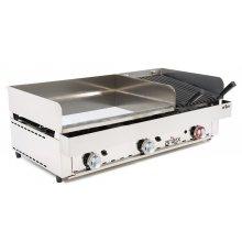 Frytops a gas de 67cm acero cromo duro + Barbacoa a gas 35cm con medidas 1005x590x345h mm 100FRYGCB(OUTLET)