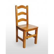 Silla de Madera de pino con asiento de madera PRAGA