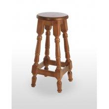 Taburete de madera de pino con asiento de madera TABURETE TOLEDO ALTO