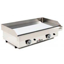 Plancha a Gas Cromo Duro Profesional en Acero 15 mm con medidas 810x457x265h mm 80PGC(OUTLET)