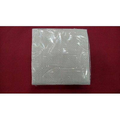 Caja 24 paquetes de 50 de Servilletas de 40x40 cms color Blanca diseño Espiral PP40ESPIRAL HOSTELCASH (1 caja) (OUTLET)