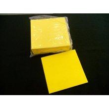 Paquete de 12 uds de Bayeta Amarilla Cortada de 38x40 cms BY3840 HOSTELCASH (1 paquete)