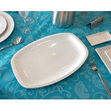Fuentes de Porcelana de 35x23cm línea Malaga 01S0005 EURODRA (caja 3 uds)
