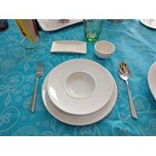 Caja de 6 Platos Degustación de 230cc de 25cm de Porcelana 01S0287 EURODRA (caja 6 uds)