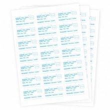 Pack 252 uds Etiquetas papel para Barquitas muestra 6,35x3,81cm 112.93 GDP (1 pack)