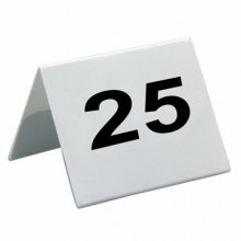 Caballetes números sobremesa 26 al 50 Blanco PVC 5x3,6cm 179.28 GDP (1 set)