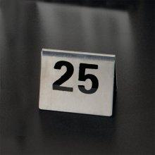 Caballetes números sobremesa 1 al 25 Inox 7,5x5,5cm 162.03 GDP (1 set)