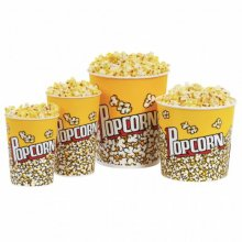 "Pack 50 uds Vasos Palomitas ""Pop Corn"" de Cartón Grueso Plastificado 720ml 178.57 GDP (1 pack)"