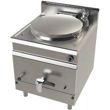 Marmita a gas 140 litros calentamiento directo 21 Kw Serie 900 JUNEX de 800x900x900h mm MG9C150D