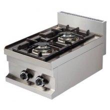Cocina a gas sobremesa 2 fuegos 2x3,6kw 400x600x265h mm GC604 ARISCO