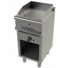 Fry tops a gas acero laminado con mueble Serie 550 JUNEX con medidas 400x550x850h mm FT6100-2