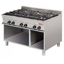 Cocina a gas 6 fuegos 6x8kw 1275x900x900h mm GR931 ARISCO