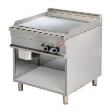 Fry tops a gas acanaldo acero 15 mm con baño cromo duro 15kw 850x900x900h mm GG921G ARISCO