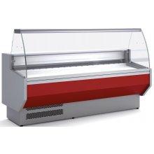 Vitrina Refrigerada DOCRILUC CON RESERVA Cristal Curvo Fondo 940 de 2525x800x1230h mm VED-9-25-C
