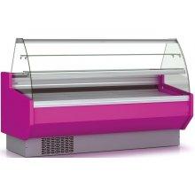 Vitrina Refrigerada DOCRILUC Pastelería Cristal Doble Curvo Fondo 940 de 2525 x940 x1295h mm VEPD-9-25-C
