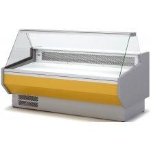 Vitrina Refrigerada DOCRILUC SIN RESERVA Cristal Recto Fondo 1100 de 2025x1100x1231h mm VEDS-10-20-R