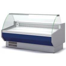 Vitrina Refrigerada DOCRILUC CON RESERVA Cristal Curvo Fondo 1100 de 2025 x1100 x1231h mm VED-10-20-C