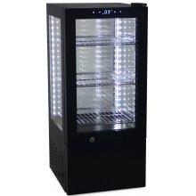 Vitrina Expositora Refrigerada 4 caras cristal de 65 litros G-65