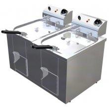 Freidora Eléctrica 10 + 10 litros Uso Profesional de 650 x440 x360h mm FAP1010