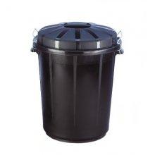 Cubo de basura Industrial de 70 Litros Color Negro 13260 (1 ud)