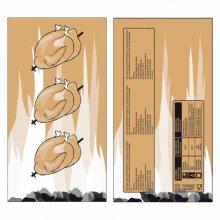 Bolsa para pollo 18+6x35cm marron Kraft 188.30 GARCIA DE POU (Pack 100 uds)