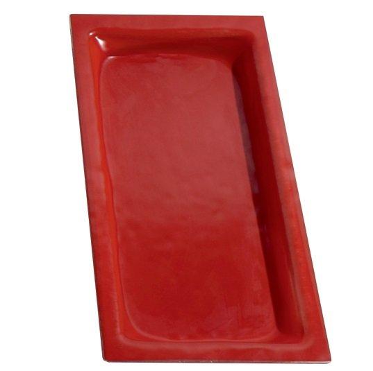 Cubeta Gastronom de cristal Rojo
